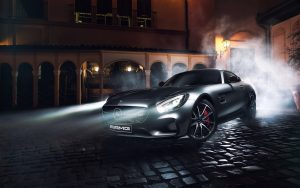 Mercedes-Benz-AMG-GT-S-silver-supercar-night-lights-smoke_1280x800